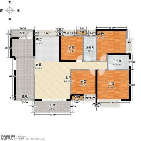 中熙弥珍道4室1厅2卫1厨146.00㎡户型图