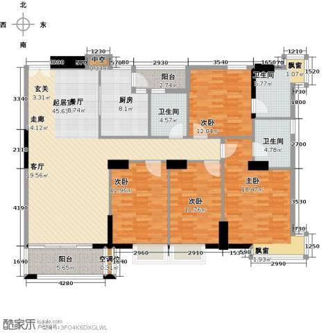 高雅湾4室0厅3卫1厨151.00㎡户型图