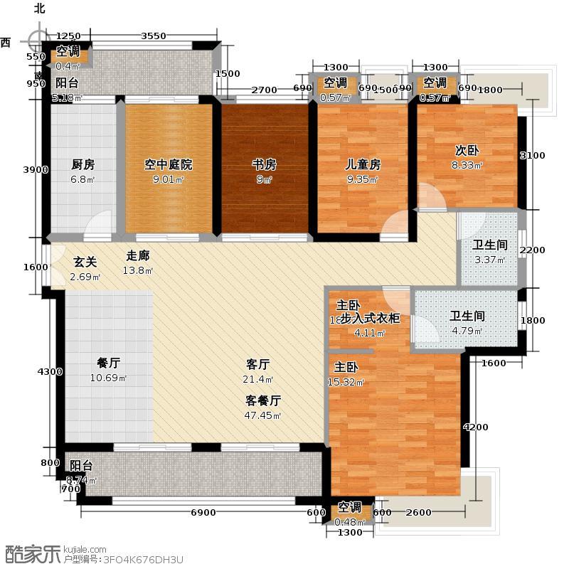 金域中央天玺户型4室1厅2卫1厨