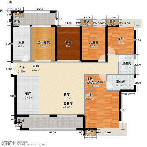 金域中央天玺4室1厅2卫1厨190.00㎡户型图