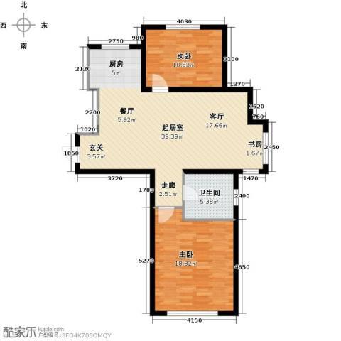 钰桥中央庭院2室0厅1卫0厨82.00㎡户型图