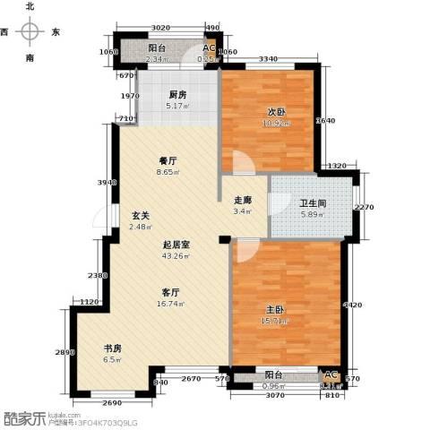 钰桥中央庭院2室0厅1卫0厨111.00㎡户型图