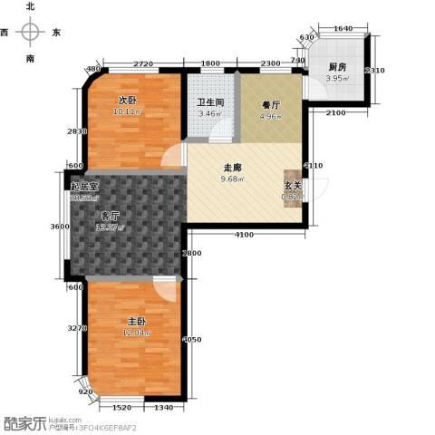 文景清华园2室0厅1卫1厨82.00㎡户型图