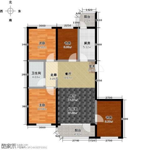 文景清华园4室0厅1卫1厨110.00㎡户型图