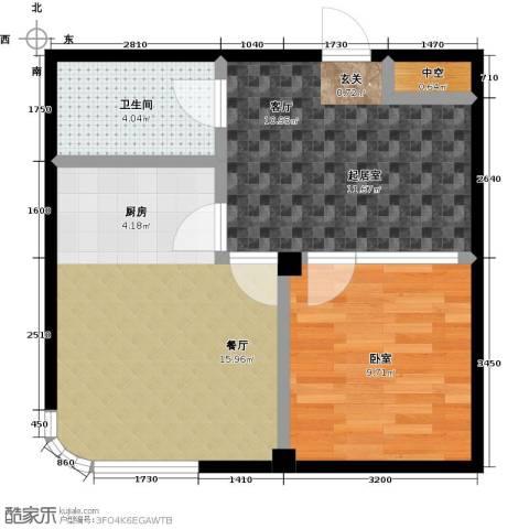 文景清华园1厅1卫0厨58.00㎡户型图