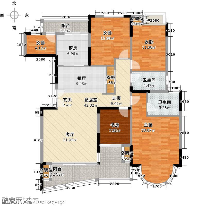 罗马家园凯豪庭ABCDEFG座户型5室2卫1厨