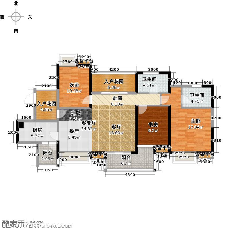 自由人花园B4/B4d户型3室1厅2卫1厨