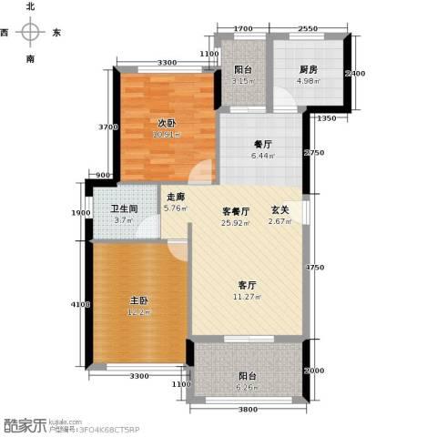 景湖荣郡2室1厅1卫1厨79.00㎡户型图