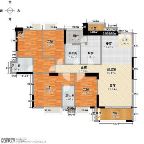 高雅湾4室0厅3卫1厨155.00㎡户型图
