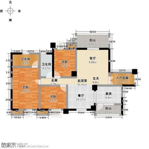 大信君汇湾3室0厅2卫1厨135.00㎡户型图
