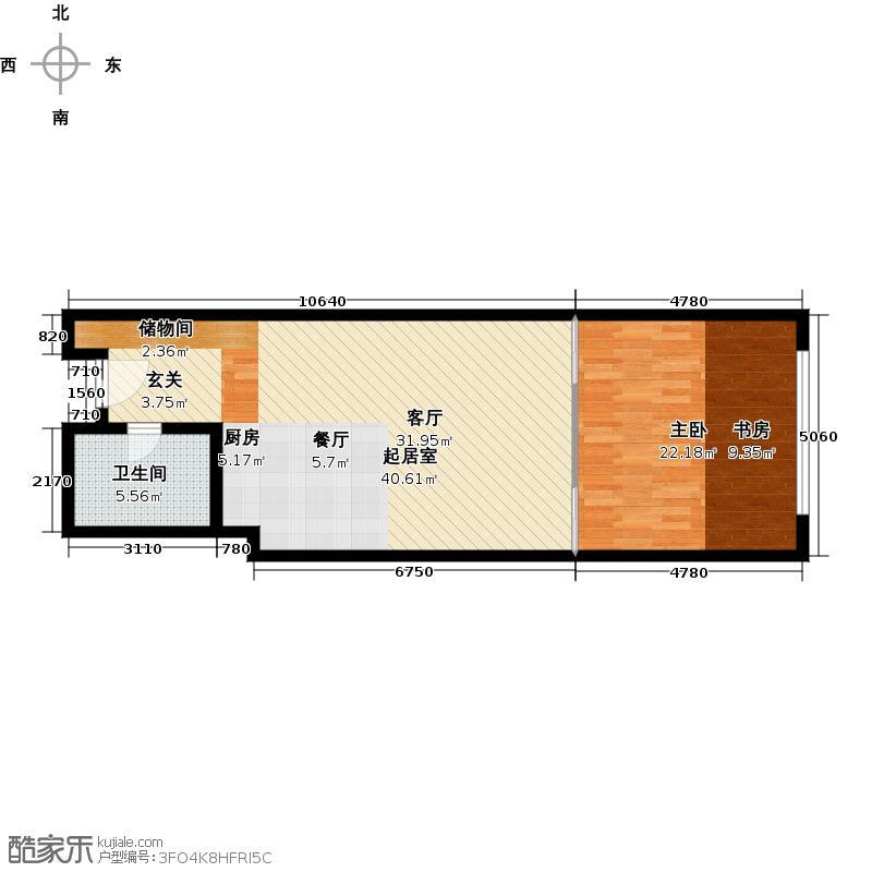 艾瑟顿国际公寓75.92㎡E2户型