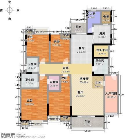 湖景壹号庄园4室1厅3卫1厨250.00㎡户型图