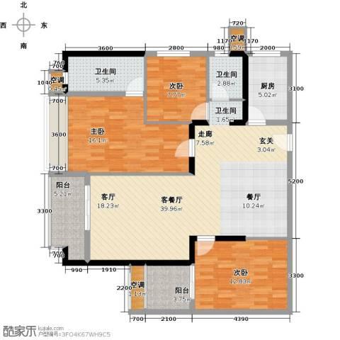 第一国际三期3室1厅2卫1厨143.00㎡户型图