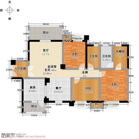 大信君汇湾3室0厅2卫1厨129.00㎡户型图