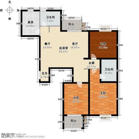 怡湖华庭澜郡3室0厅2卫1厨169.00㎡户型图