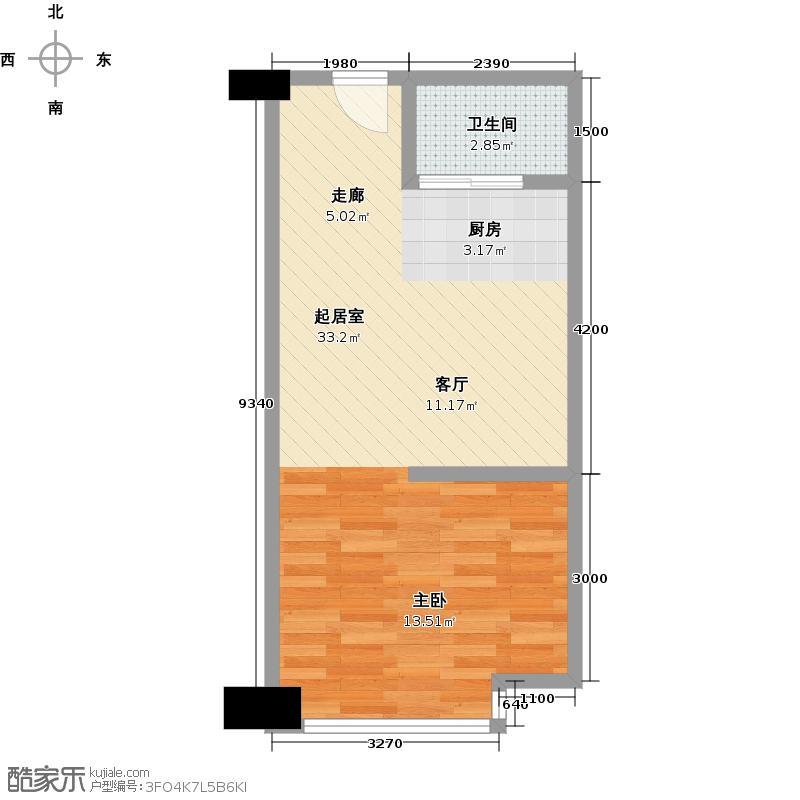 东城万达广场SOHOE/D户型1卫