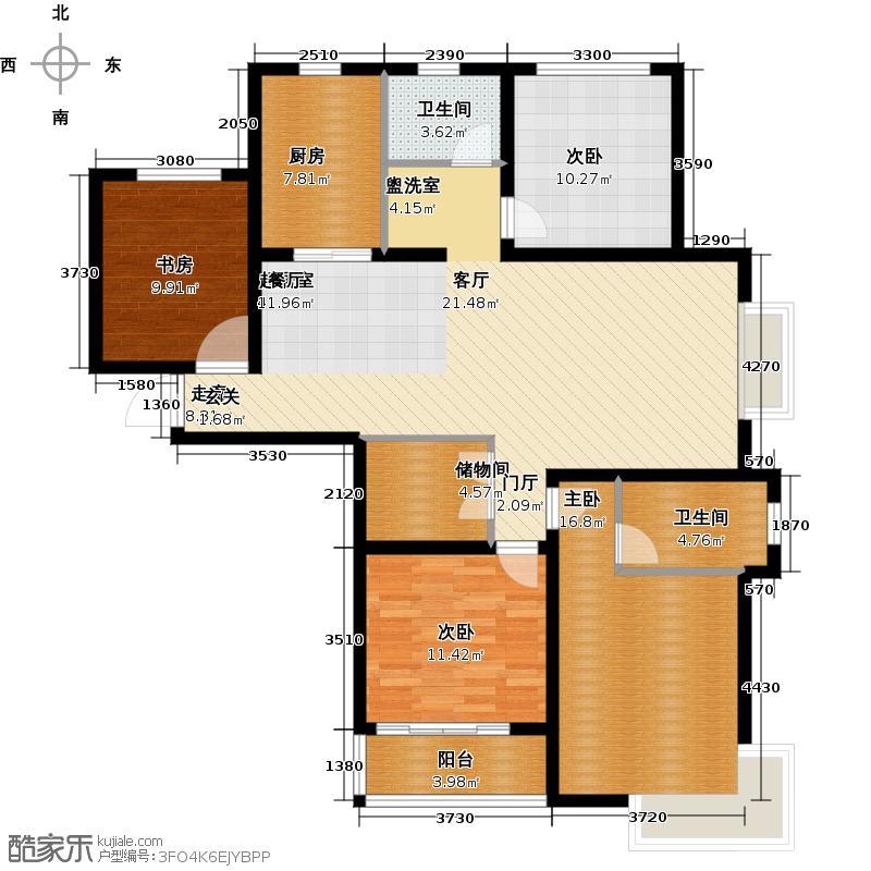 滨江明珠城四房二厅二卫:153.74平方米户型