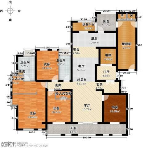 申达林与城4室0厅2卫0厨196.00㎡户型图