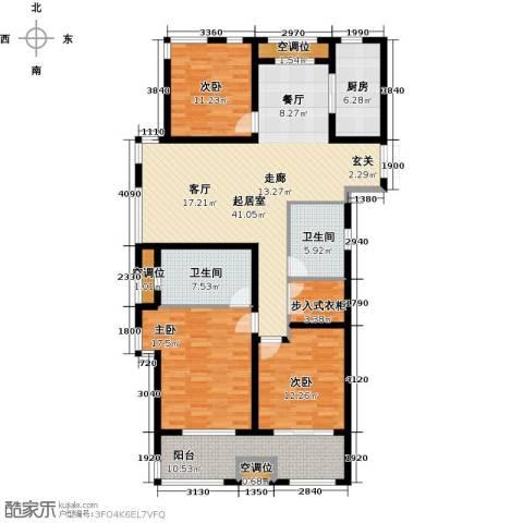 申达林与城3室0厅2卫1厨137.00㎡户型图