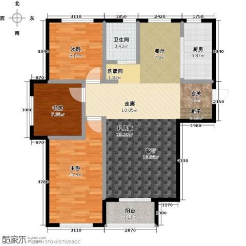 连大文润金宸3室0厅1卫1厨101.00㎡户型图