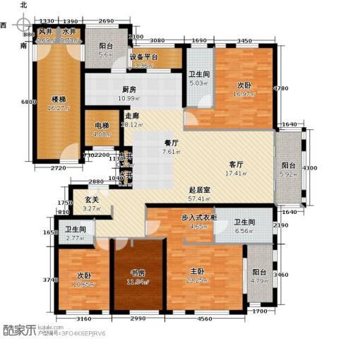 申达林与城4室0厅3卫0厨200.00㎡户型图