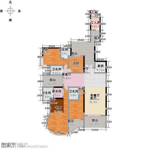 天骄峰景4室1厅4卫1厨345.00㎡户型图