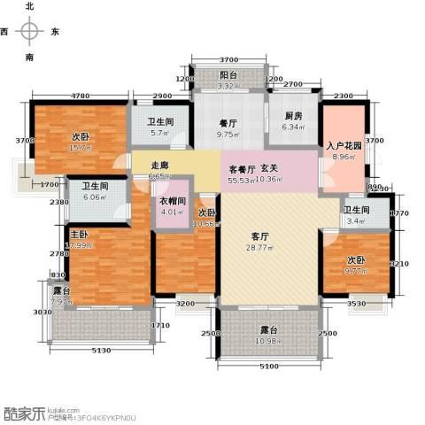 湖景壹号庄园4室1厅3卫1厨200.00㎡户型图