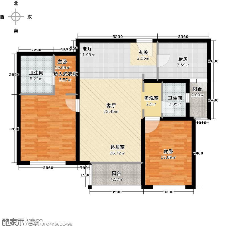 京城豪苑京城豪苑户型图房型图-2号楼华英阁2房(27/37张)户型10室