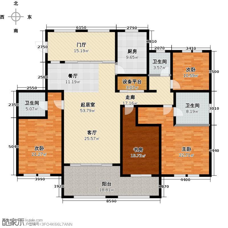 青枫壹号209.21㎡4居室户型4室2厅3卫
