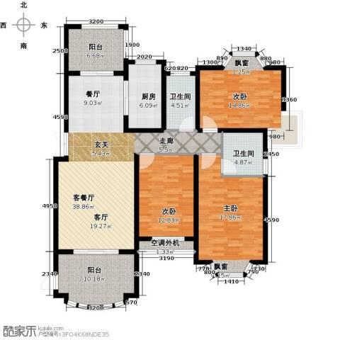 大名城3室1厅2卫1厨135.00㎡户型图