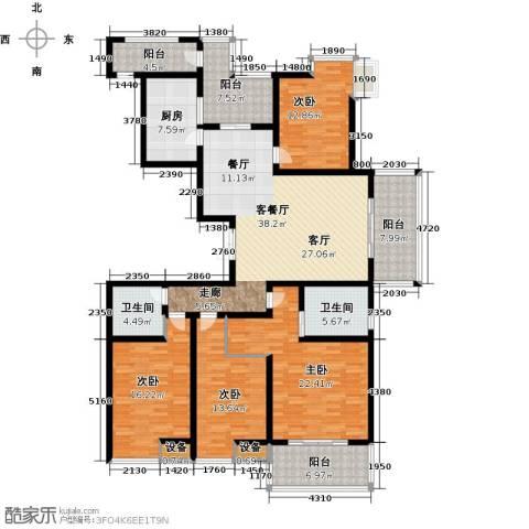 九洲新世界4室1厅2卫1厨174.00㎡户型图
