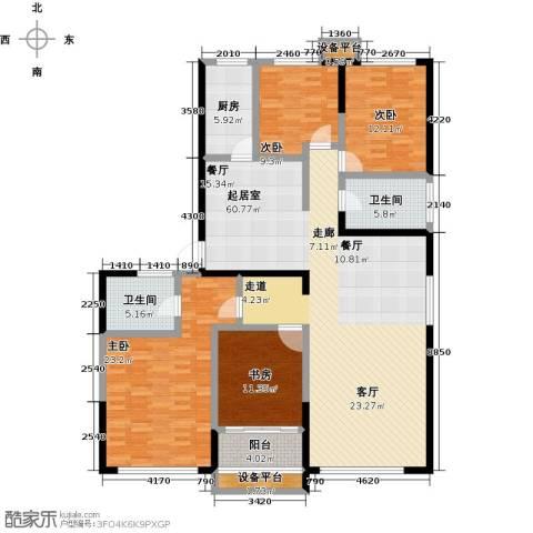 剑桥春雨4室0厅2卫1厨200.00㎡户型图