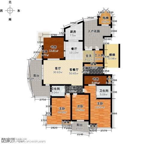 九洲新世界5室1厅2卫1厨211.00㎡户型图