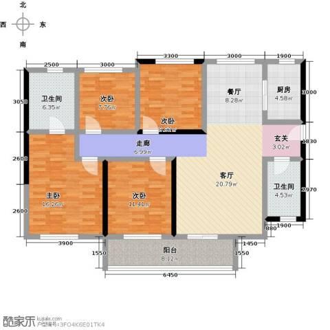 万科公园里4室1厅2卫1厨130.57㎡户型图