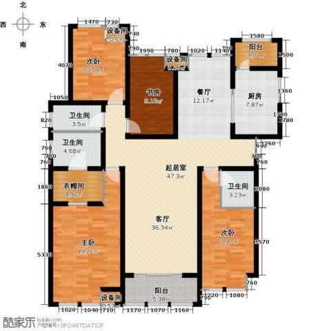 中天锦庭4室0厅3卫1厨188.00㎡户型图