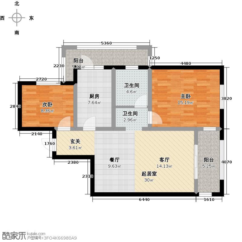 格兰艺堡89.00㎡二房二厅一卫-89.97平方米-16套户型
