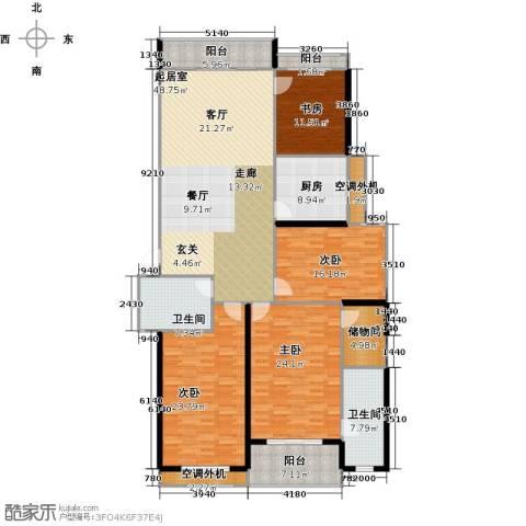 银河湾明苑4室0厅2卫1厨188.00㎡户型图