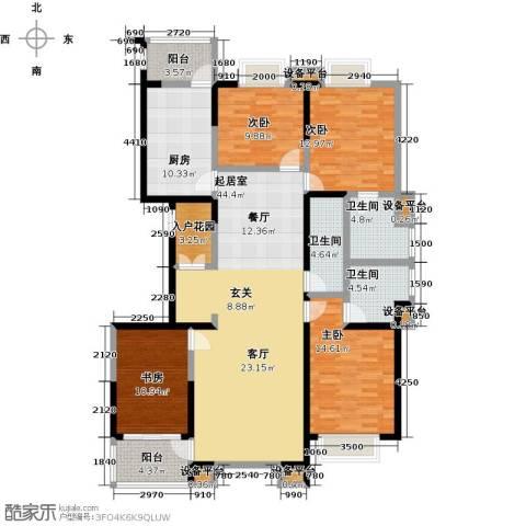 剑桥春雨4室0厅3卫1厨189.00㎡户型图