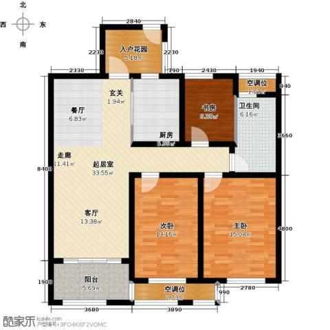 申达林与城3室0厅1卫1厨110.00㎡户型图