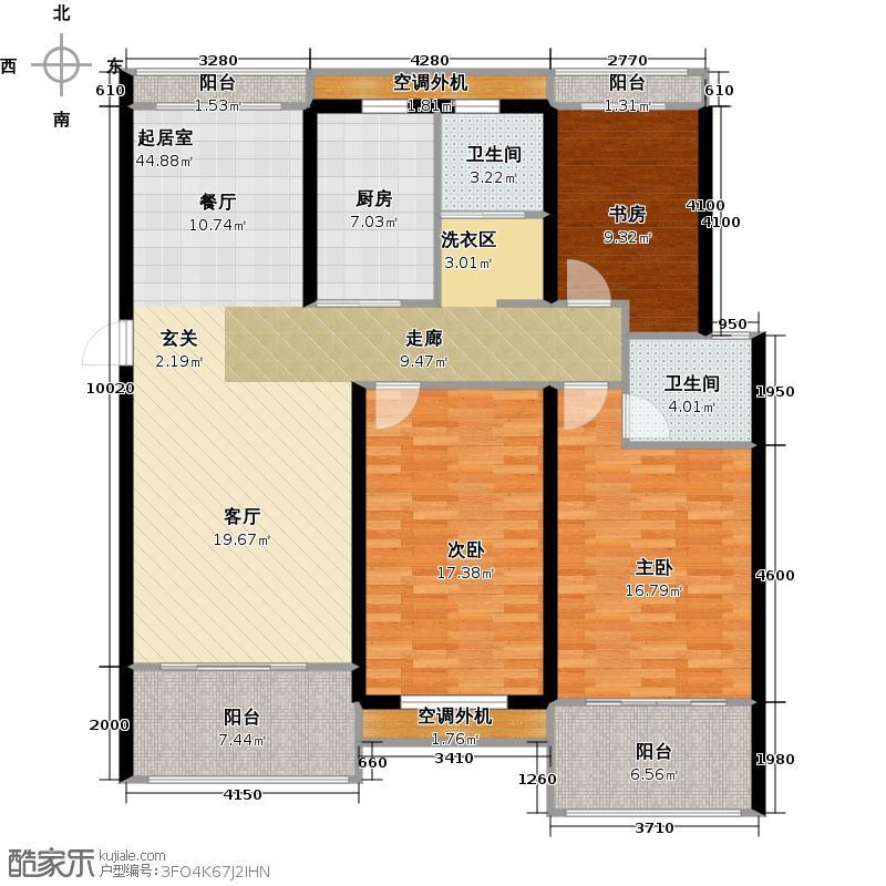 银河湾明苑87.63㎡三房二厅二卫-139.83平方米-33套。户型