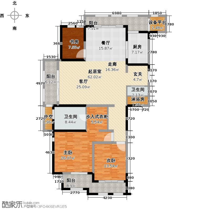 新城首府179.00㎡二期A户型3室2厅2卫