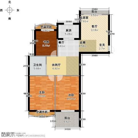银河湾明苑3室0厅1卫1厨100.91㎡户型图