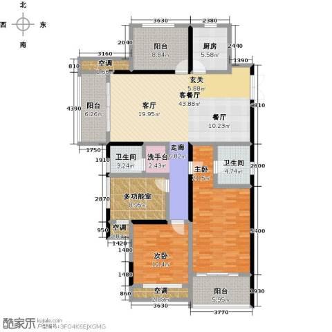 阳光龙庭2室1厅2卫1厨141.00㎡户型图