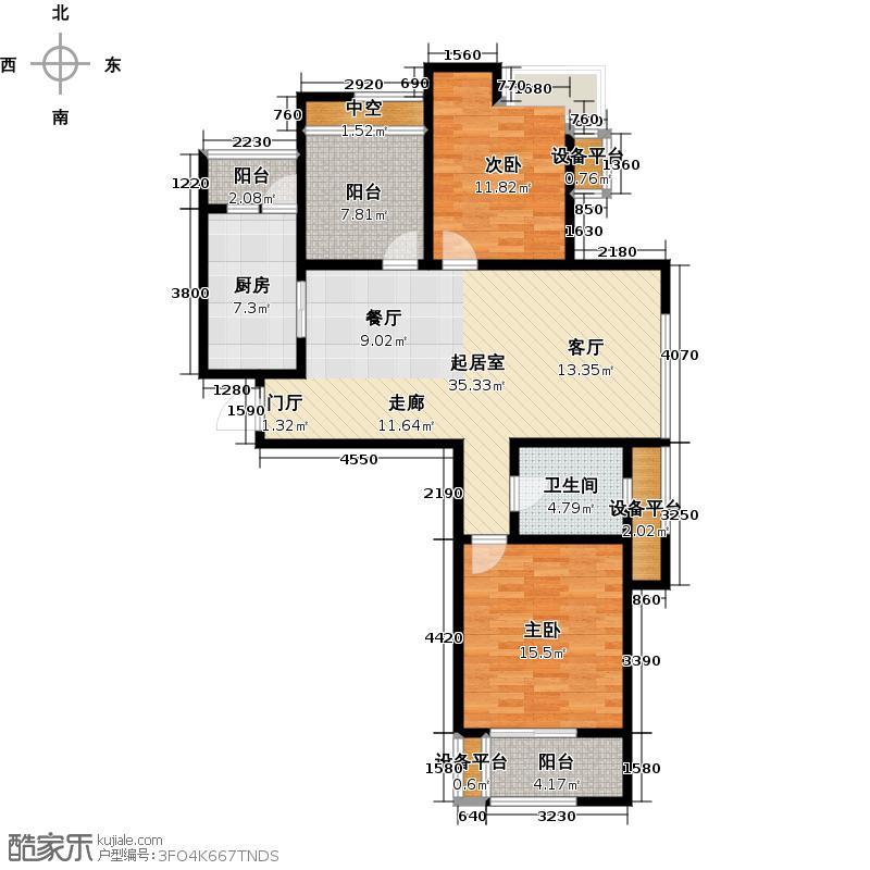 泰盈八千里107.00㎡二房二厅一卫-106平方米-26套户型