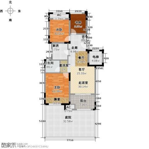 新城香溢澜桥3室0厅1卫1厨119.72㎡户型图