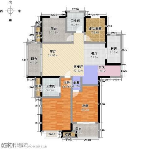 阳光龙庭2室1厅2卫1厨140.00㎡户型图