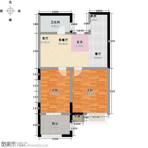 阳光龙庭2室1厅1卫0厨73.00㎡户型图