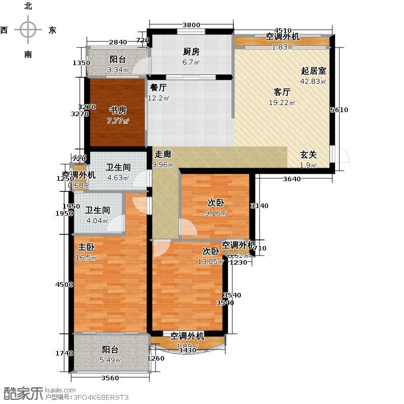 银河湾明苑125.44㎡四房二厅二卫-133.11平方米-33套。户型