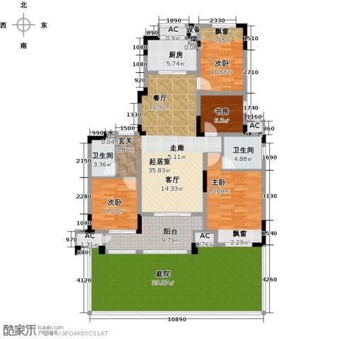 新城香溢澜桥4室0厅2卫1厨145.47㎡户型图