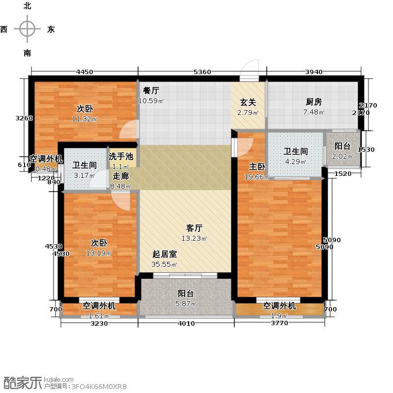 银河湾明苑87.63㎡三房二厅二卫-121.27平方米-32套。户型